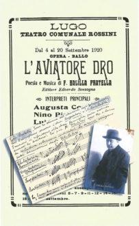 Locandina Per L'opera L'aviatore Dro Di Pratella