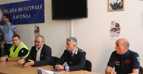 RAVENNA 27/07/17. CONFERENZA STAMPA POLIZIA MUNICIPALE RUOLO DELLE ASSOCIAZIONI DI VOLONTARIATO CIVILE. GIACOMINI