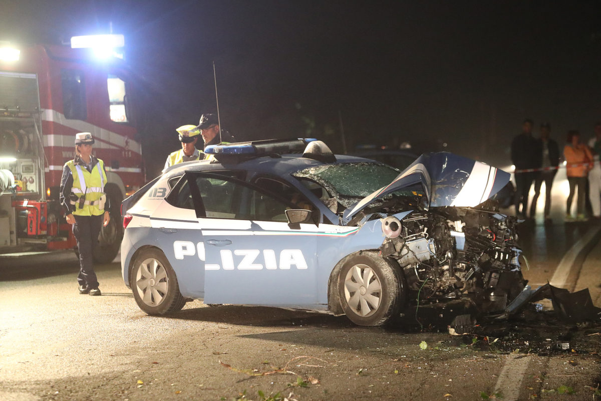 RAVENNA 16/09/2017. INCIDENTE A LIDO ADRIANO, MORTI DUE POLIZIOTTI