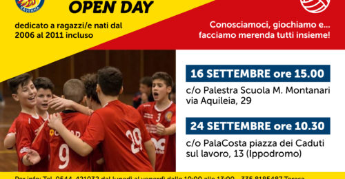 Locandina Open Day Minivolley