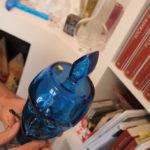 Testa in vetro Blu