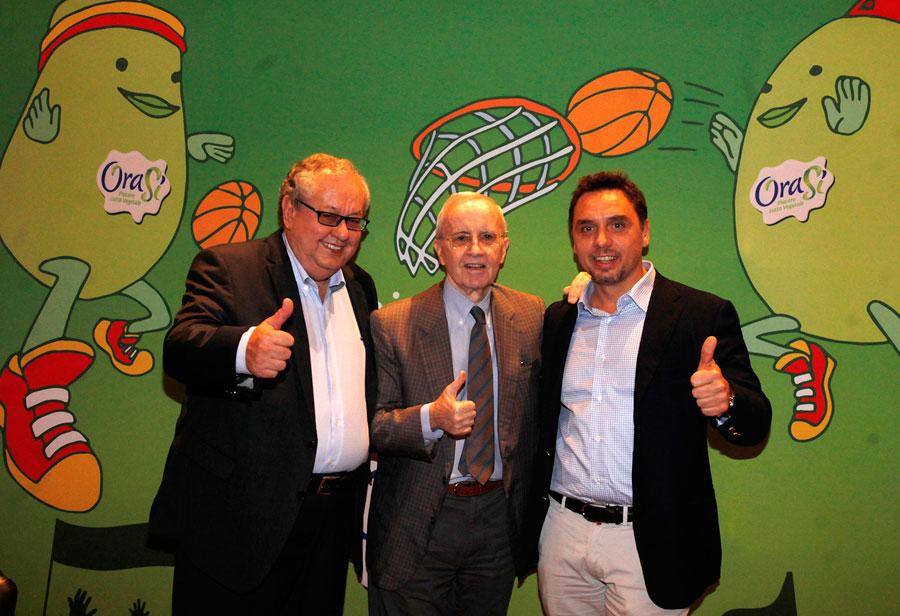 La presentazione dell'OraSì Basket Ravenna con Dan Peterson