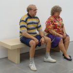 Duane Hanson, Old Couple on a Beach