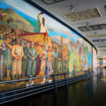 Messina Marittima, Stazione, mosaico parietale