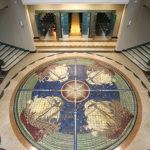 Castrocaro Terme, Complesso delle Terme, Padiglione delle Feste, mosaico in maiolica