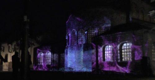 Il videomapping alla Basilica