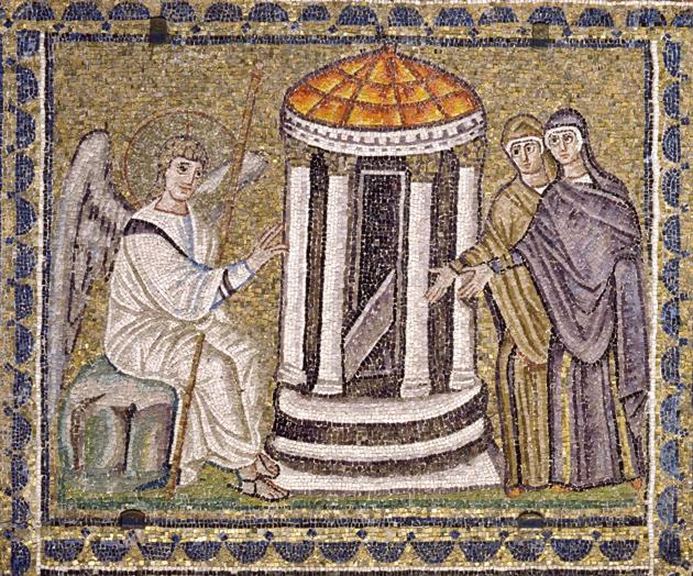 Donne Al Sepolcro Mosaico