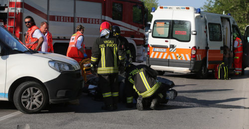 RAVENNA 25/04/18. INCIDENTE SU VIA TRIESTE