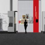Un rendering dell'allestimento del museo