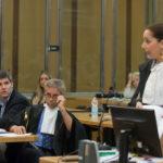 La pm Cristina D'Aniello e sullo sfondo l'avvocato Scudellari