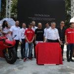 La posa della prima pietra di Ducati World a Mirabilandia