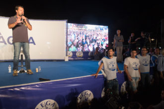 BOLOGNA 04/08/2018. FESTA LEGA NORD ROMAGNA. Matteo Salvini
