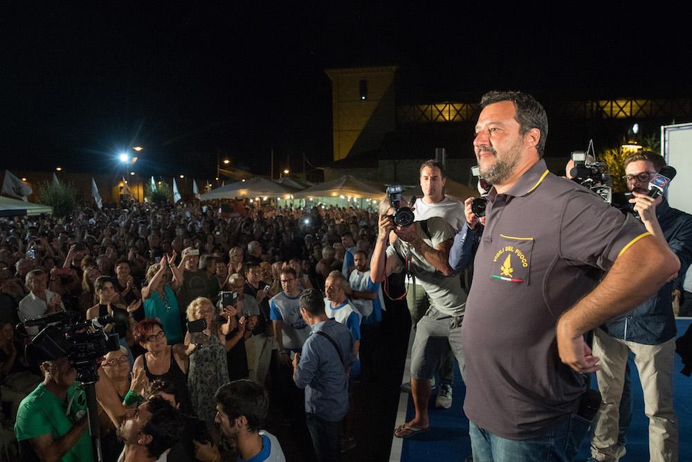Cervia 04/08/2018. FESTA LEGA NORD ROMAGNA. Matteo Salvini