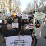 RAVENNA 12/01/2019. MANIFESTAZIONE PENDOLARI DELLE STAZIONI DI GODO E CLASSE