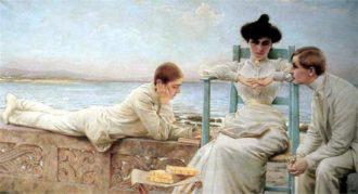 Corcos In Lettura Al Mare 1910