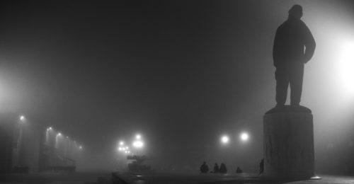 """Piazza Baracca (Lorenzo Tugnoli, dalla serie """"La notte e lo zen"""", nell'ambito del progetto Lugo Land 2009, a cura di Luca Nostri)"""