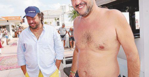 Matteo Salvini In Spiaggia A Milano Marittima