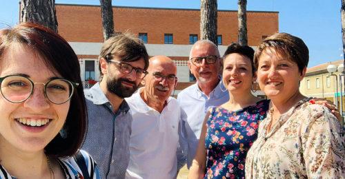 Il Sindaco Riccardo Graziani Con La Nuova Giunta Di Alfonsine