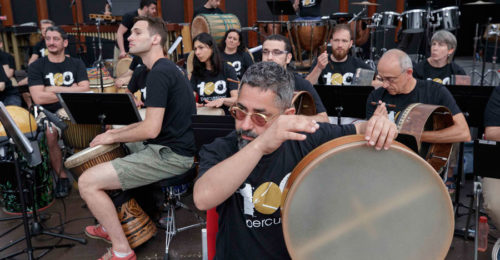 """I percussionisti di """"Tamburi nella notte"""""""