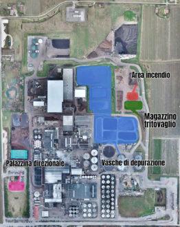 Stabilimento Caviro Faenza Area Incendio