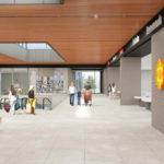 Un rendering del Conad che sorgerà a Lugo nell'area dell'ex acetificio Venturi. Investimento di 15 milioni di euro della cooperativa Cia di Forlì