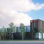 Un rendering del Conad che sorgerà a Lugo nell'area dell'ex acetificio Venturi. Sarà 2.200 mq con 50-60 dipendenti