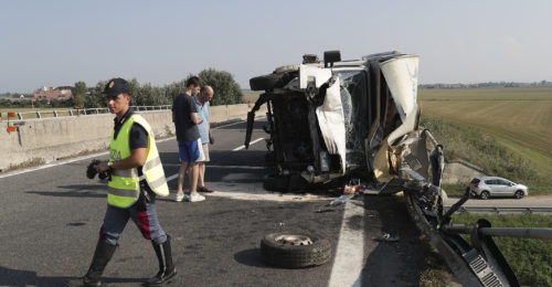 RAVENNA 27/08/2019. INCIDENTE E45