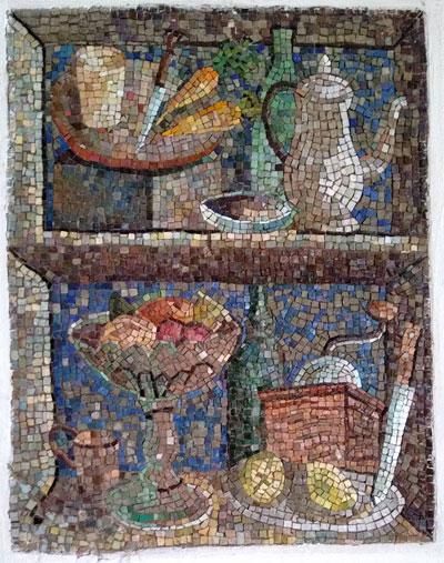 """""""Composizione"""" (cartone Di Giorgio De Chirico), mosaico, anni Quaranta, Instituto Lina Bo E P. M. Bardi, São Paulo (Brasile)"""