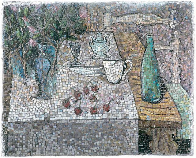"""Natura Morta"", mosaico, anni Quaranta, Instituto Lina Bo E P. M. Bardi, São Paulo (Brasile)"