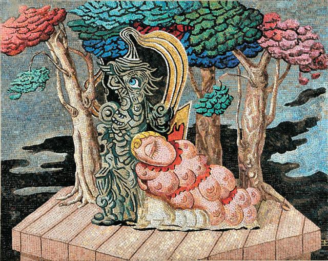 Il Sonno di Eva (cartone di Alberto Savinio), mosaico, 1941 1942, Rovereto, MART