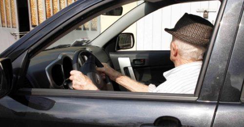 Anziano Guida Auto