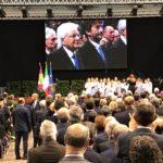 Il presidente della Repubblica al Pala De André