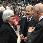 Romano Prodi e Rosy Bindi con Antonio Patuelli