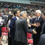 Il sindaco e l'assessore Fagnani con Casini e Del Rio