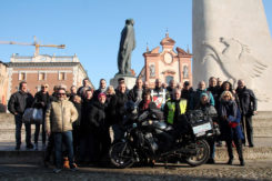 Partenza Del Viaggio In Russia In Moto