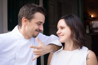 Gianluca Gorini e Sara Silvani: marito e moglie gestiscono il ristorante a San Piero in Bagno