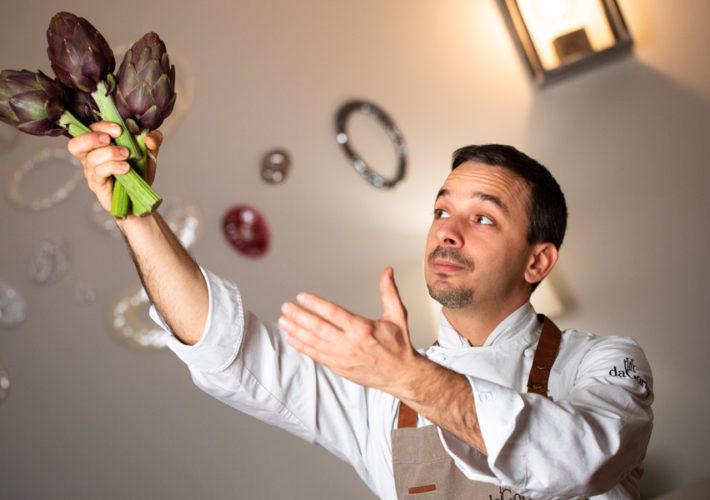 Per Gianluca Gorini nella sua cucina non può mancare il carciofo