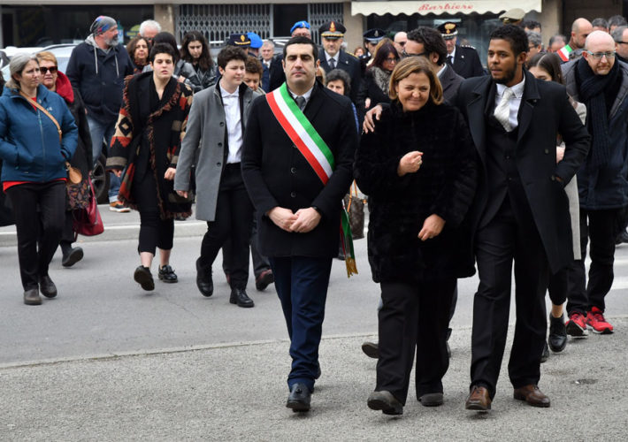 Funerale Matteucci Moglie Figlio