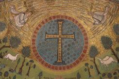 Sant'apollinare In Classe, Mosaici Del Catino, Trasfigurazione Simbolica, VI Secolo, 04 Croce Gemmata