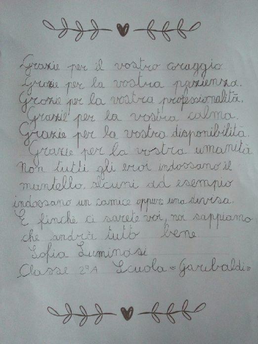 Lettera Sofia