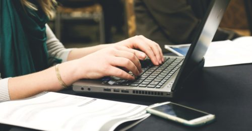 Woman Typing Writing Programming 7112