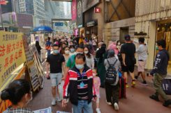 Street In Hong Kong During The COVID 19 Pandemic