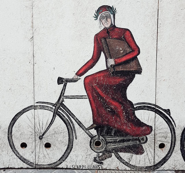 Dante In Bici Murales