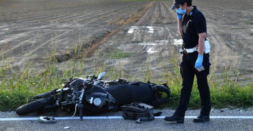 INCIDENTE MORTALE MOTO AUTO VIA BASTIA INCROCIO VIA TRADONE SAN BERBARDINO A SAN BERNARDINO DI LUGO (RA)