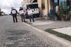 Cartelli Occhio Buche Giro Italia Mezzano