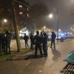 Le pattuglie di polizia locale e polizia di Stato ai giardini Speyer il 28 novembre