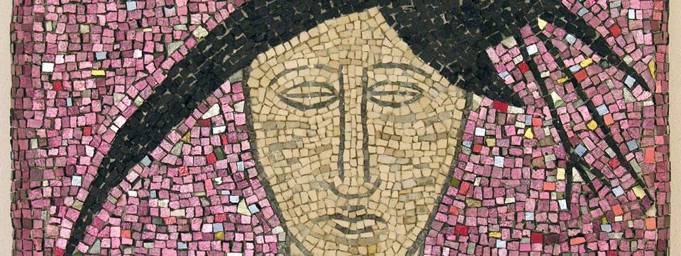 Un mosaico di Mimmo Palladino della collezione del Mar di Ravenna