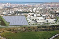 Il rendering del progetto Eni Ponticelle nella zona industriale e vicino al porto di Ravenna