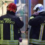 INCENDIO CENTRO COMMERCIALE MAIOLICHE NEGOZIO CARPISA A FAENZA (RA)