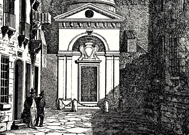 Tomba Di Dante Incisione Ottocentesca
